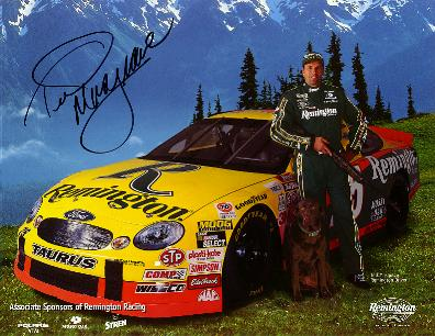 National Association  Stock  Auto Racing  on Comments   He Also Signed An 11x8  1999 Remington Arms Promotional