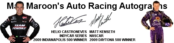 Mac Maroon's Auto Racing Autographs