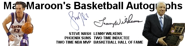 Mac Maroon's Basketball Autographs