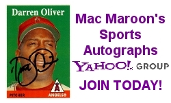 Mac Maroon's Sports Autographs Yahoo! Group